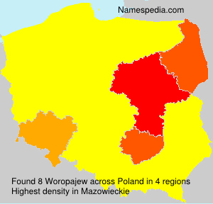 Surname Woropajew in Poland