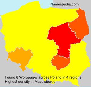 Surname Woropajew in Poland