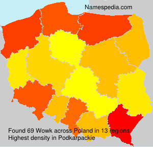 Surname Wowk in Poland