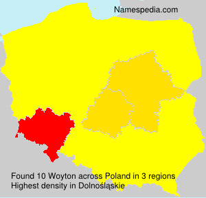Surname Woyton in Poland