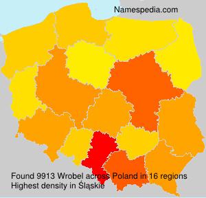 Surname Wrobel in Poland