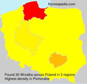 Surname Wrzalka in Poland