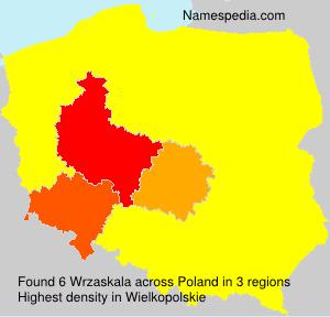 Surname Wrzaskala in Poland