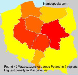Surname Wrzeszczynska in Poland