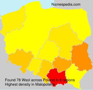 Familiennamen Wsol - Poland