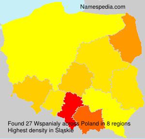 Familiennamen Wspanialy - Poland