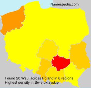 Familiennamen Wsul - Poland