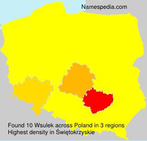 Familiennamen Wsulek - Poland