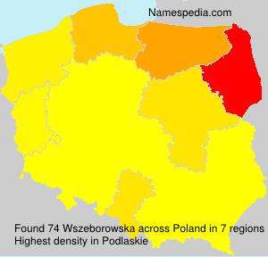 Familiennamen Wszeborowska - Poland
