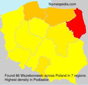 Familiennamen Wszeborowski - Poland