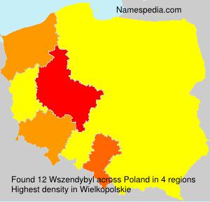 Familiennamen Wszendybyl - Poland