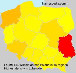 Familiennamen Wszola - Poland