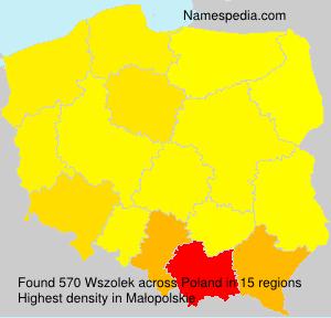 Familiennamen Wszolek - Poland