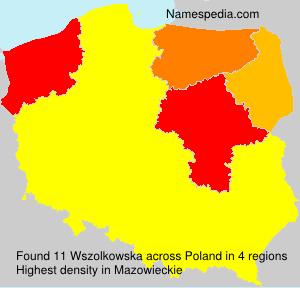 Familiennamen Wszolkowska - Poland