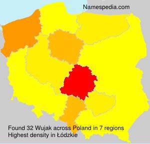 Surname Wujak in Poland