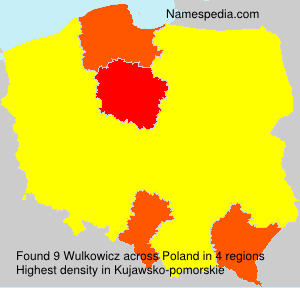 Surname Wulkowicz in Poland
