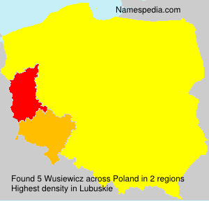 Surname Wusiewicz in Poland