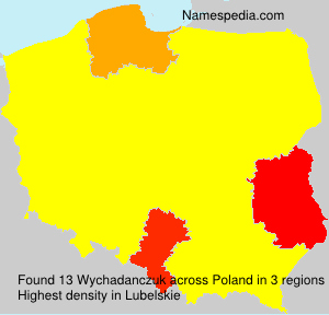 Surname Wychadanczuk in Poland