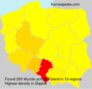 Surname Wycisk in Poland