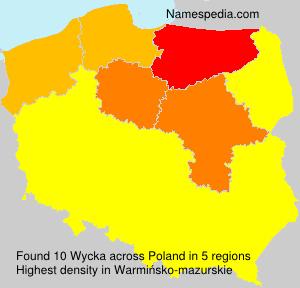 Familiennamen Wycka - Poland