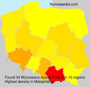 Surname Wyczesana in Poland