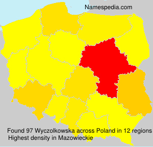 Familiennamen Wyczolkowska - Poland