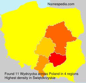 Surname Wydrzycka in Poland