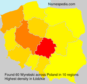 Surname Wyrebski in Poland