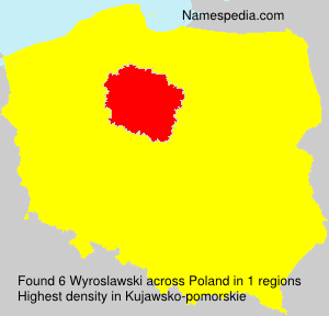 Surname Wyroslawski in Poland