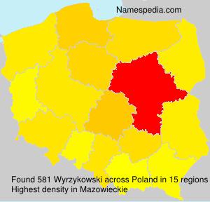 Familiennamen Wyrzykowski - Poland
