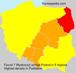 Familiennamen Wyskoczyl - Poland