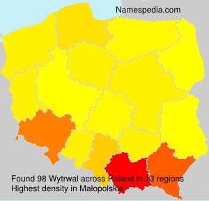 Surname Wytrwal in Poland