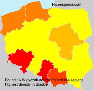 Surname Wytyczak in Poland