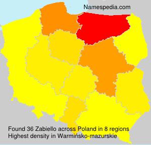 Surname Zabiello in Poland