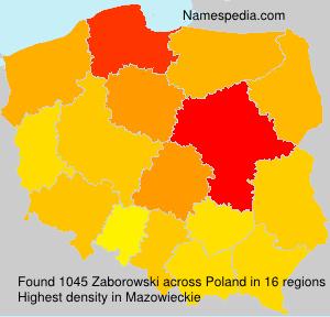 Surname Zaborowski in Poland