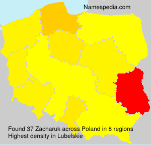 Surname Zacharuk in Poland
