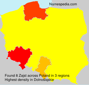 Surname Zajst in Poland