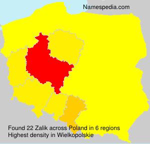 Familiennamen Zalik - Poland