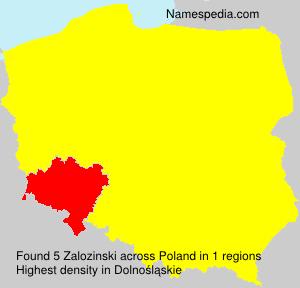 Surname Zalozinski in Poland