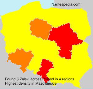 Familiennamen Zalski - Poland