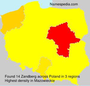 Surname Zandberg in Poland