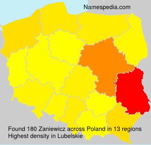 Surname Zaniewicz in Poland
