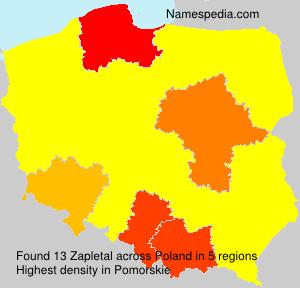 Surname Zapletal in Poland