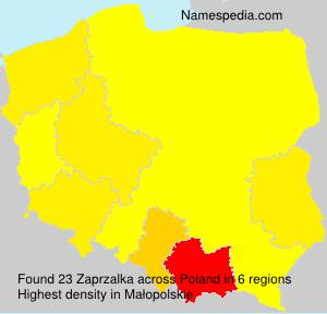 Familiennamen Zaprzalka - Poland