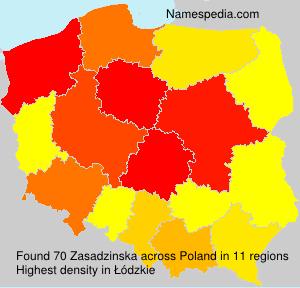 Surname Zasadzinska in Poland