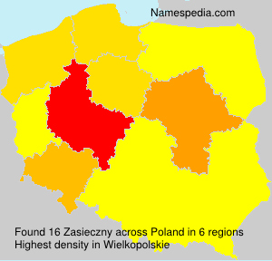 Surname Zasieczny in Poland
