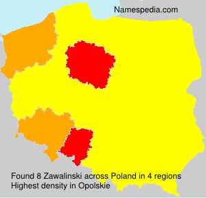 Surname Zawalinski in Poland