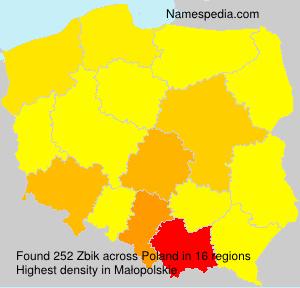 Surname Zbik in Poland
