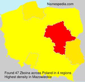 Surname Zboina in Poland
