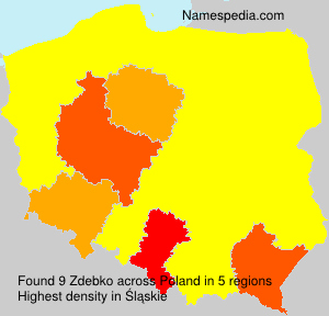 Surname Zdebko in Poland